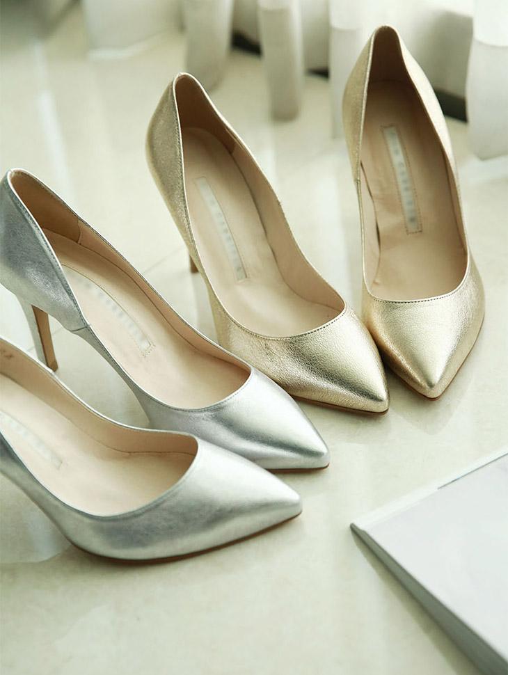 HAR-493 쿼리 Pearl stiletto heels*HAND MADE* *GOLD 245 8cm*