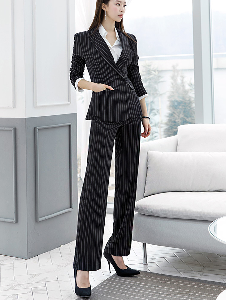P1829 Modern Stripe Slacks Pants * L size production * (9th REORDER)