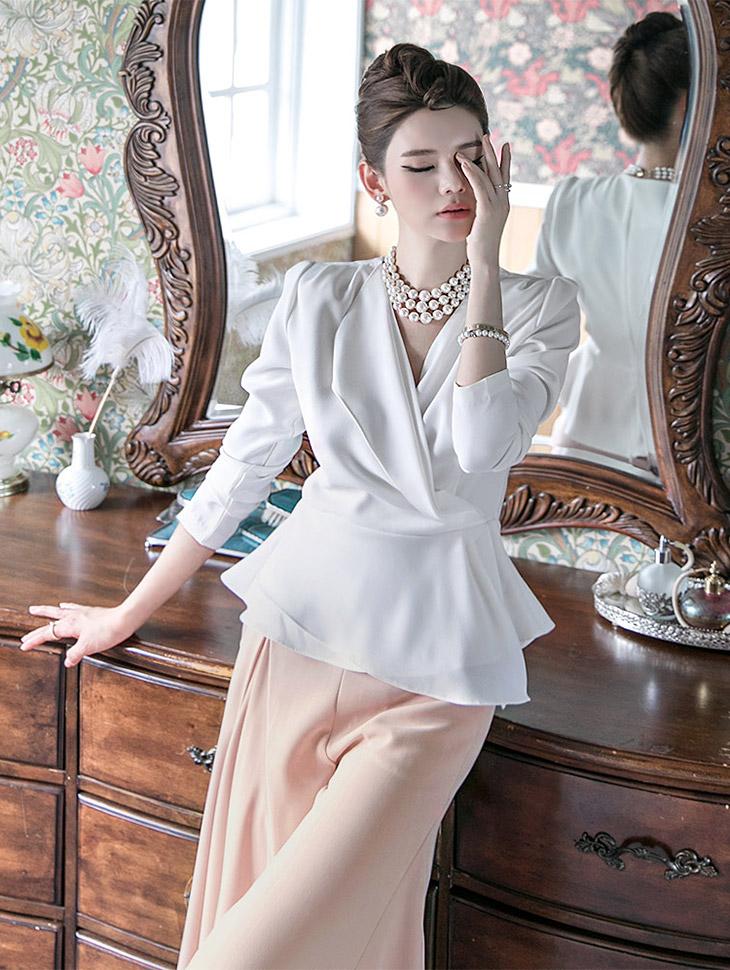 B2304 surplice blouse(38th REORDER)