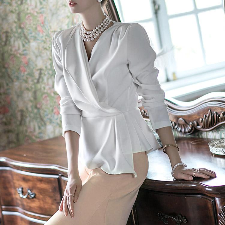 Korean B2304 surplice blouse(38th REORDER)