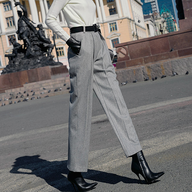 Korean P1946 cover Line pin tuck Pants * L size production * (12th REORDER)