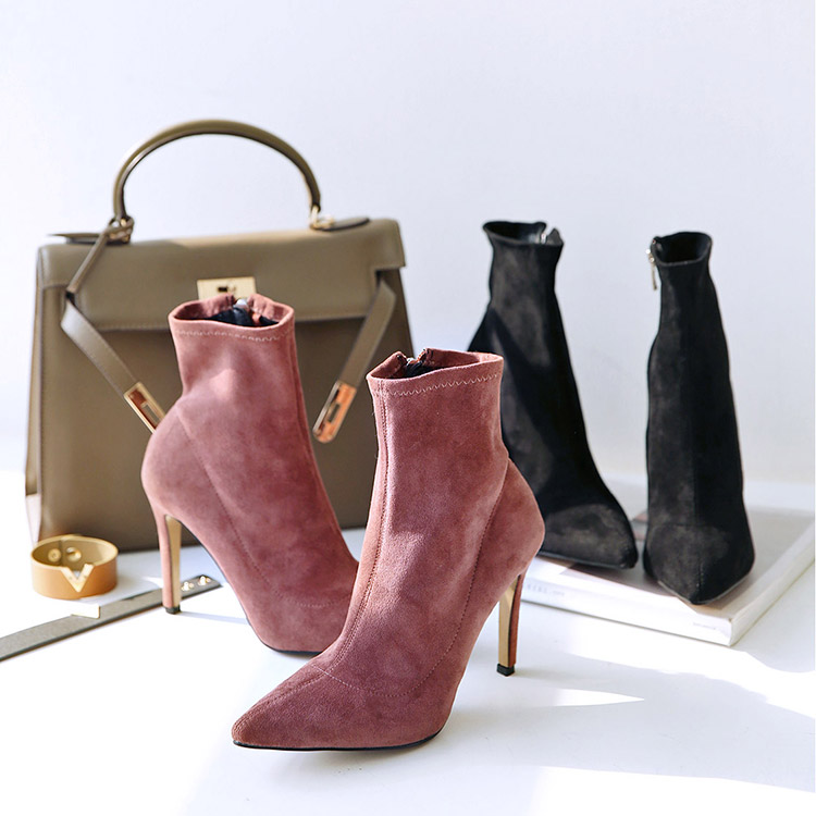 Korean AR-2188 Basic line Suede Ankle Boots Hill