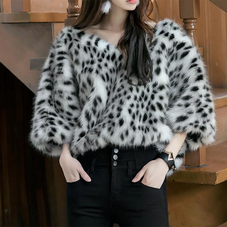 Korean E9001 Rueli Leopard Fur Top (12th REORDER)