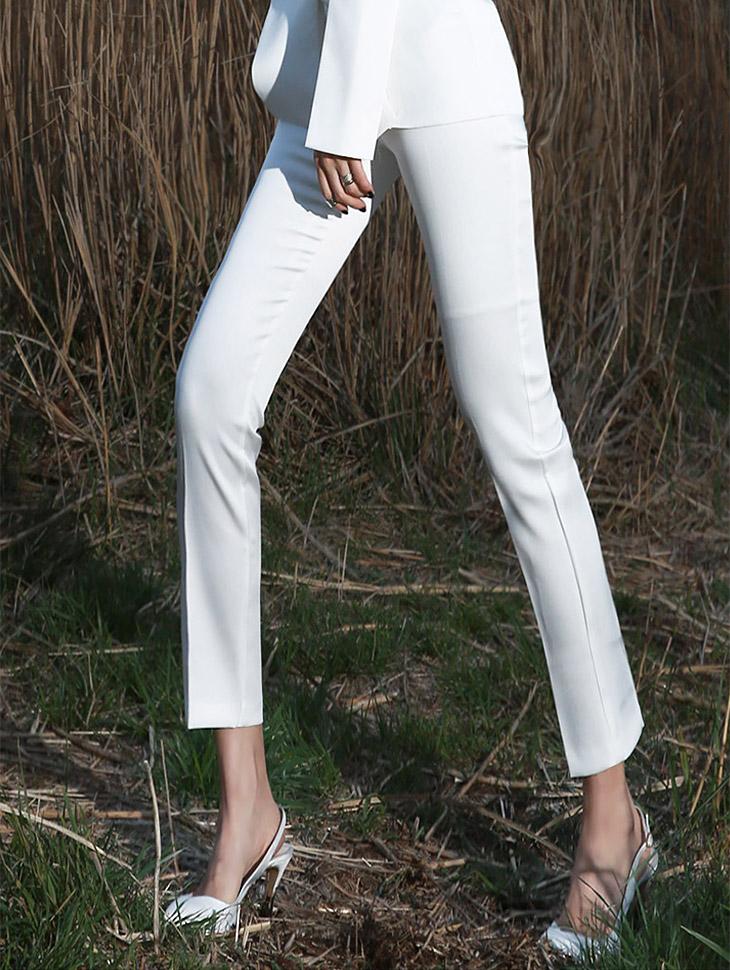 P1438 Side button Slim Pants