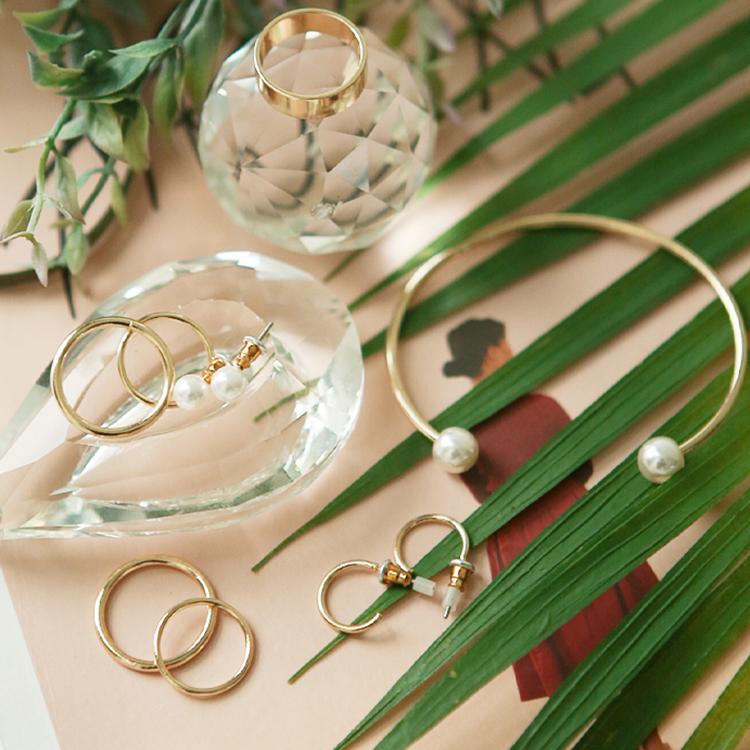 Korean AJ-3978 ring + earring + bangle
