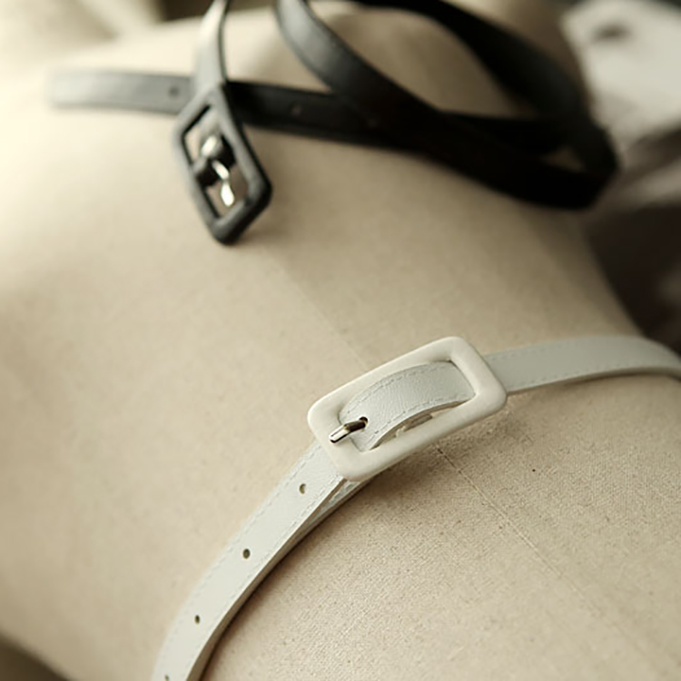 Korean AT-156 Leather Simple Buckle Belt (104th REORDER)