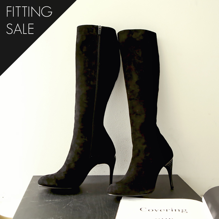 Korean PS1521 Pony Suede Long Boots Hill * HANDMADE ** Fitting Sale *