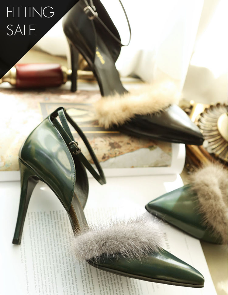 PS1538 Mink Stiletto heel * HAND MADE ** Fitting sale *