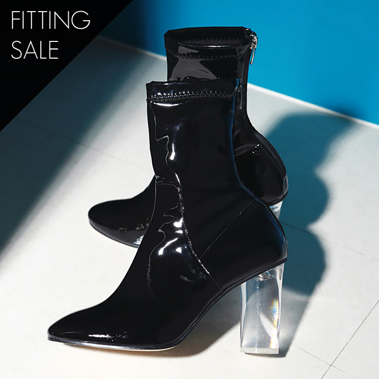 Korean PS1539 Lupine acrylic ankle boots heel * HAND MADE ** fitting sale *