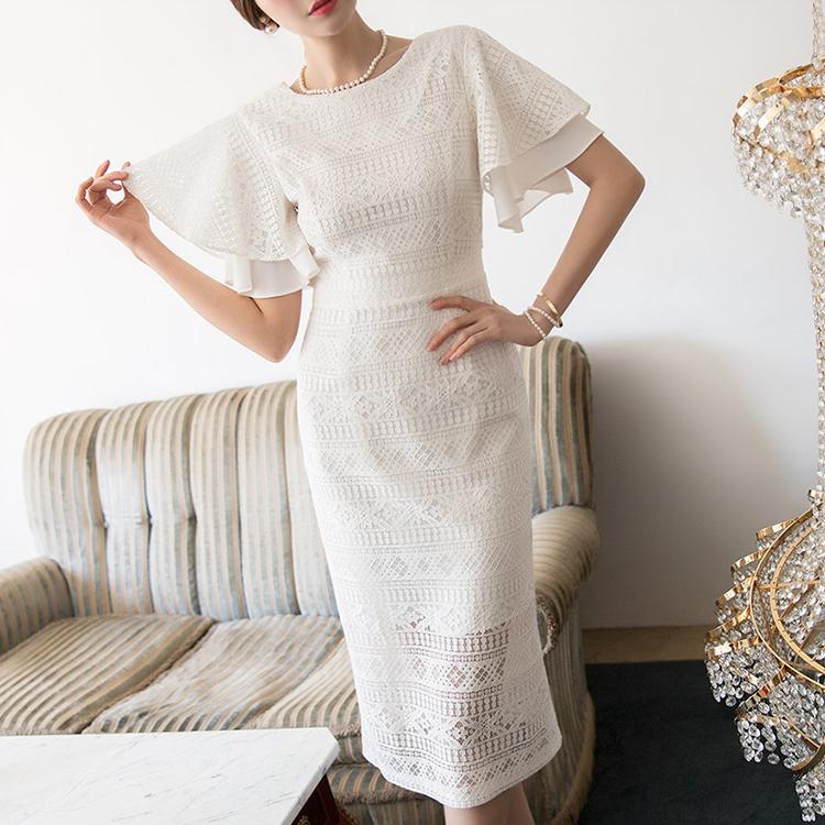 Korean D3757 Flare Retail Lace Dress (3reorder)