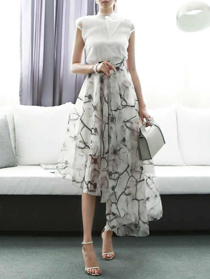 SK1106 모뉴얼 Printing Unbalanced skirt(148th REORDER)