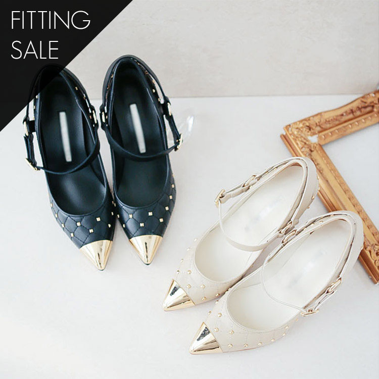 Korean PS1575 Gold Point toe heels * HAND MADE ** Fitting sale *