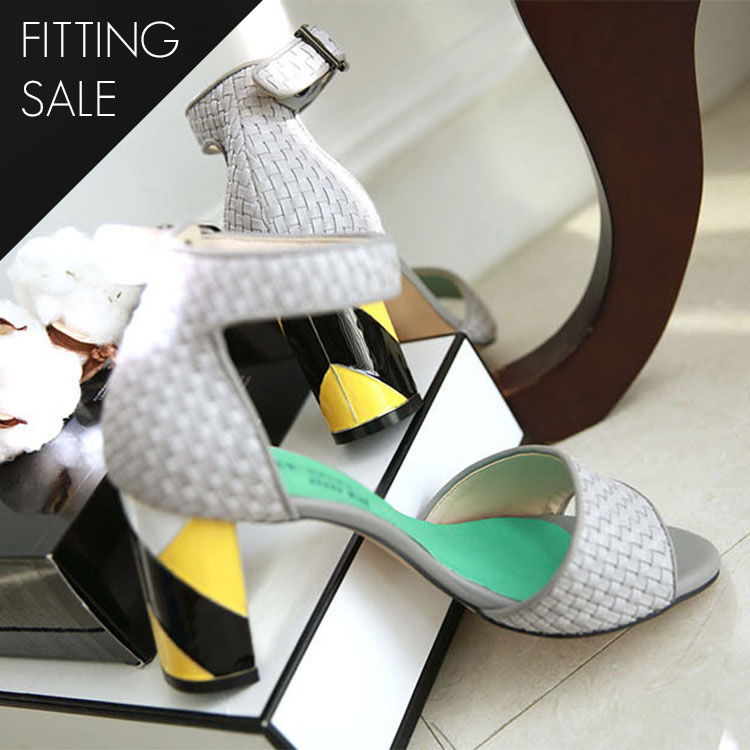 Korean PS1576 Mash Ankle Strap Heel * HAND MADE ** Fitting Sale *