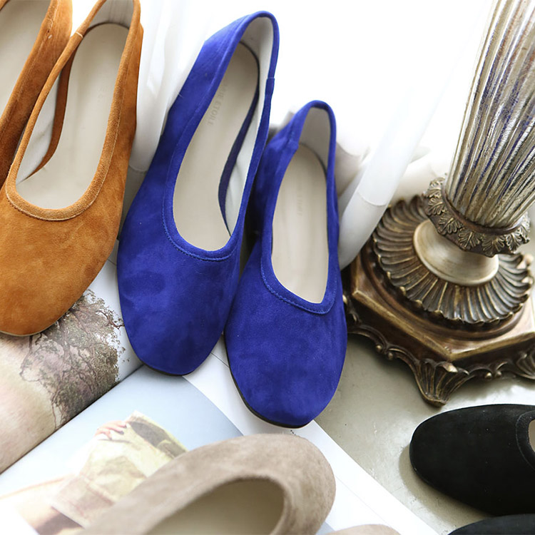 Korean AR-1516 Sharon Suede Flat Shoes