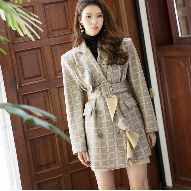 Korean J9019 그라스 ruffle Pattern Jacket(Beltset)(9th REORDER)