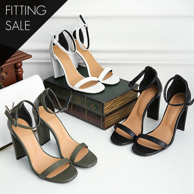 Korean PS1697 Martin Square Point Strap heel * fitting sale *