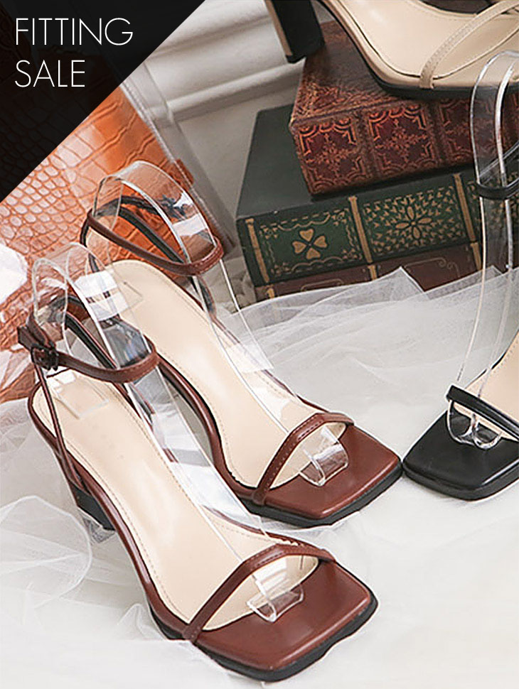 PS1698 Car Square Strap Heel * Fitting Sale *