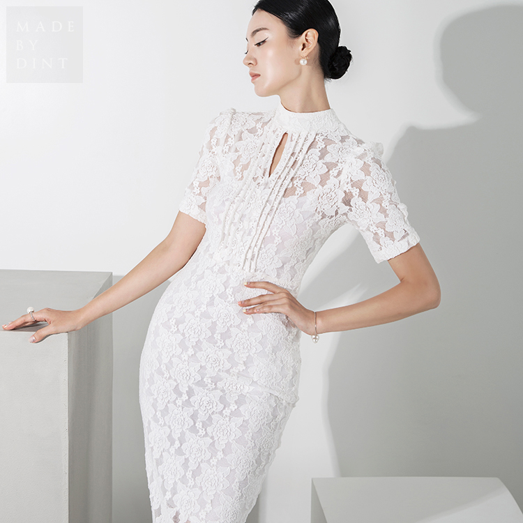 Korean D9129 Verchea Lace Long Dress