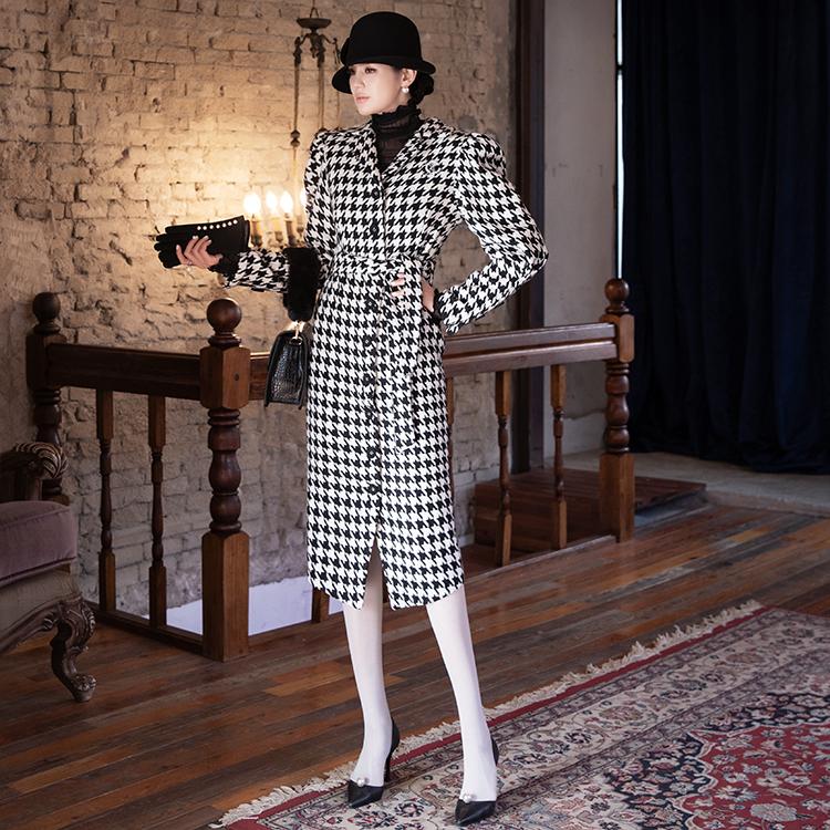 Korean D3947 Mari Hound Puff Dress (Belt set)