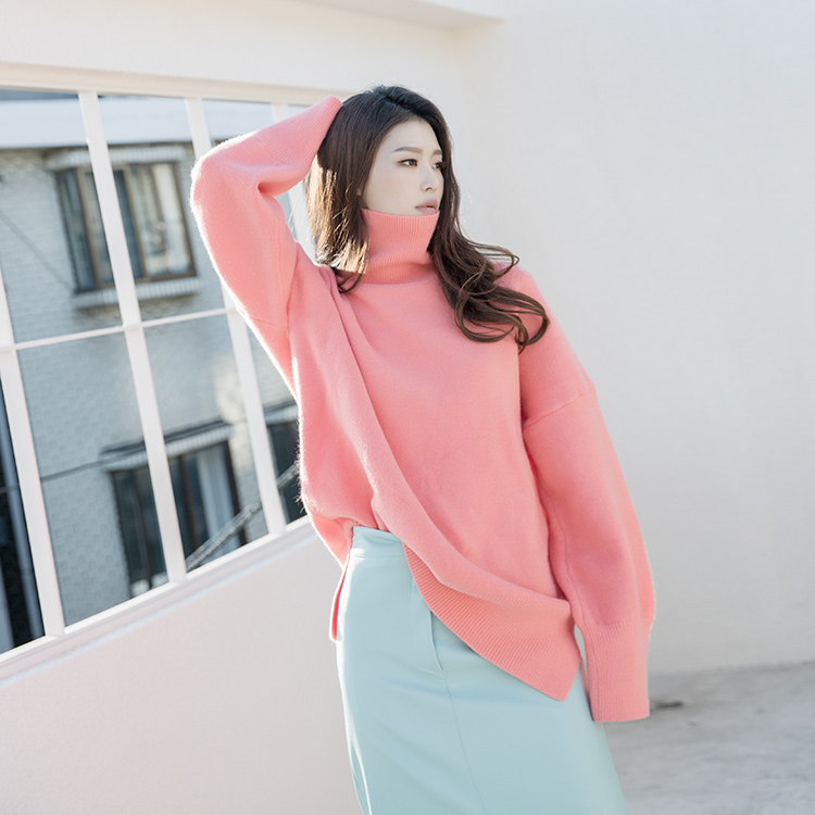 Korean E2105 Tez overfit wool Knit turtleneck Top (9th REORDER)