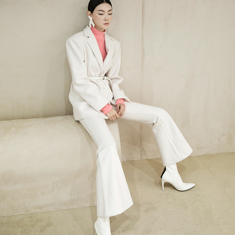 Korean TP1028 앤트리 Line wool Suit*IVORY Lsize Production*(6th REORDER)