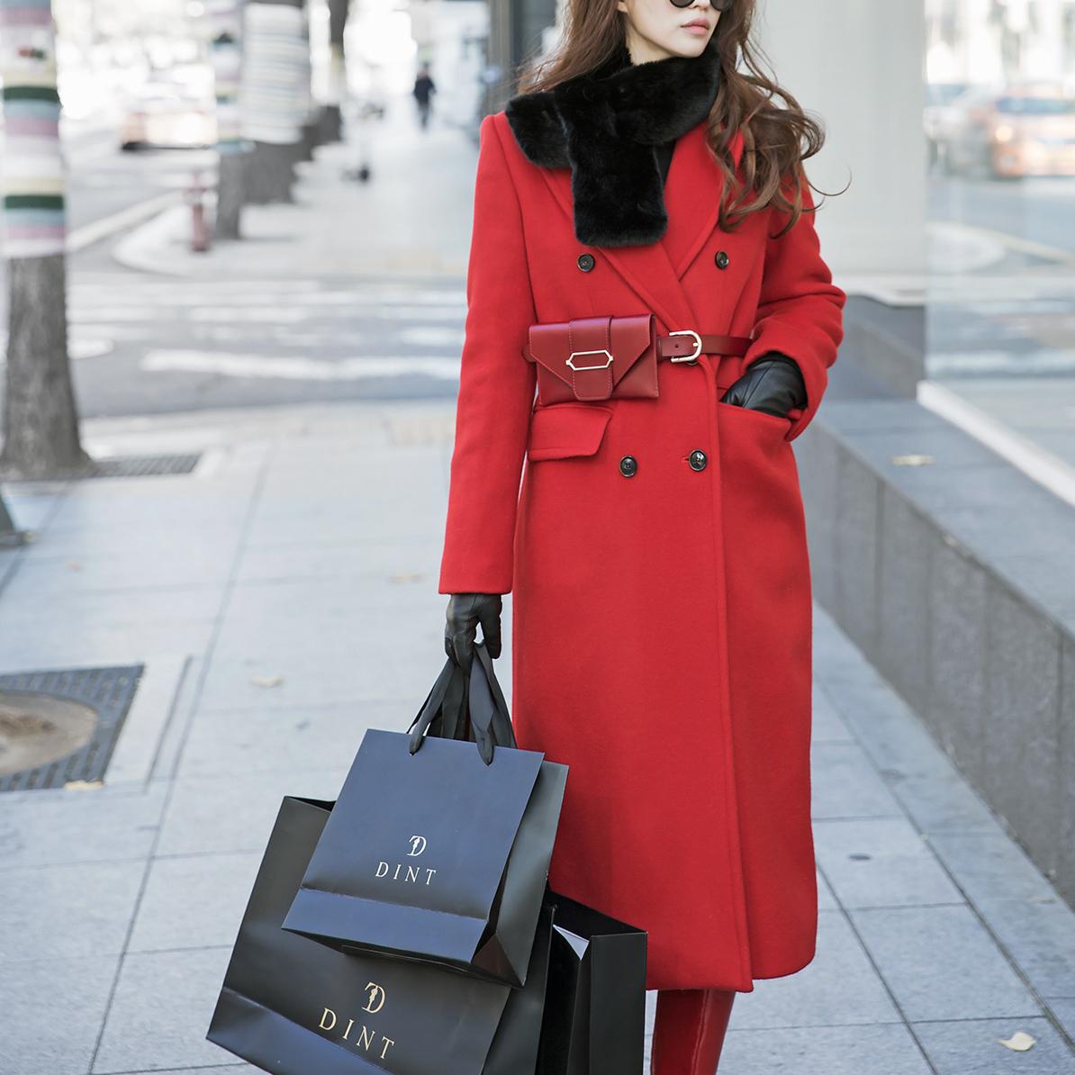 Korean J862 Randy WalletBelt Luxury wool Coat (BeltSET)