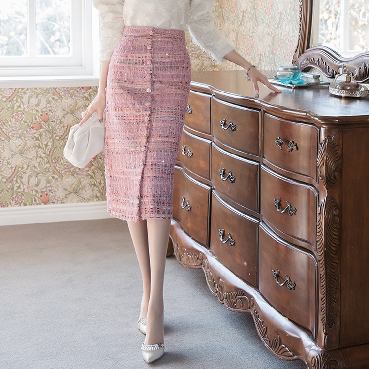 Korean SK2010 크린 Tweed Pearl skirt*L size production*(17th REORDER)
