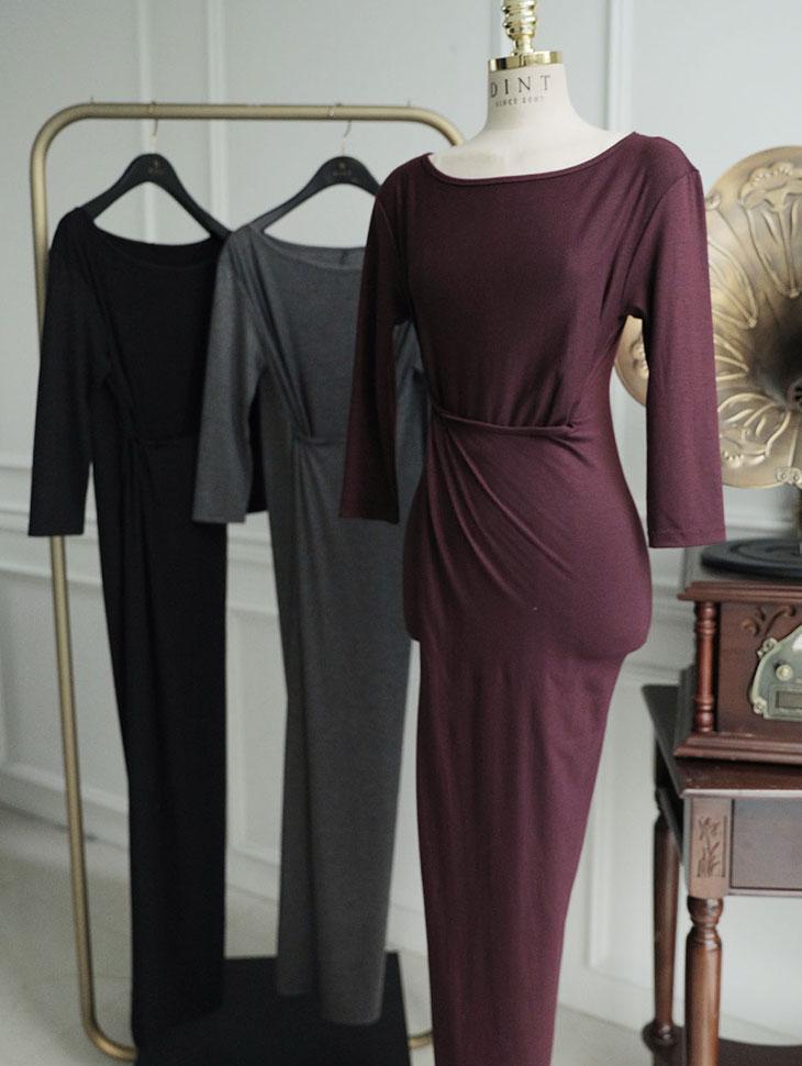 D3915 jamie twist long dress