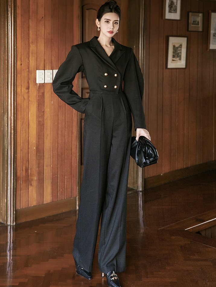 D9124 Muzen Tailored Double jumpsuit (Belt SET)