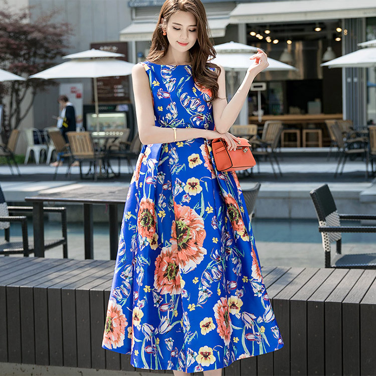 Korean D9005 Flower Joey Volume Dress
