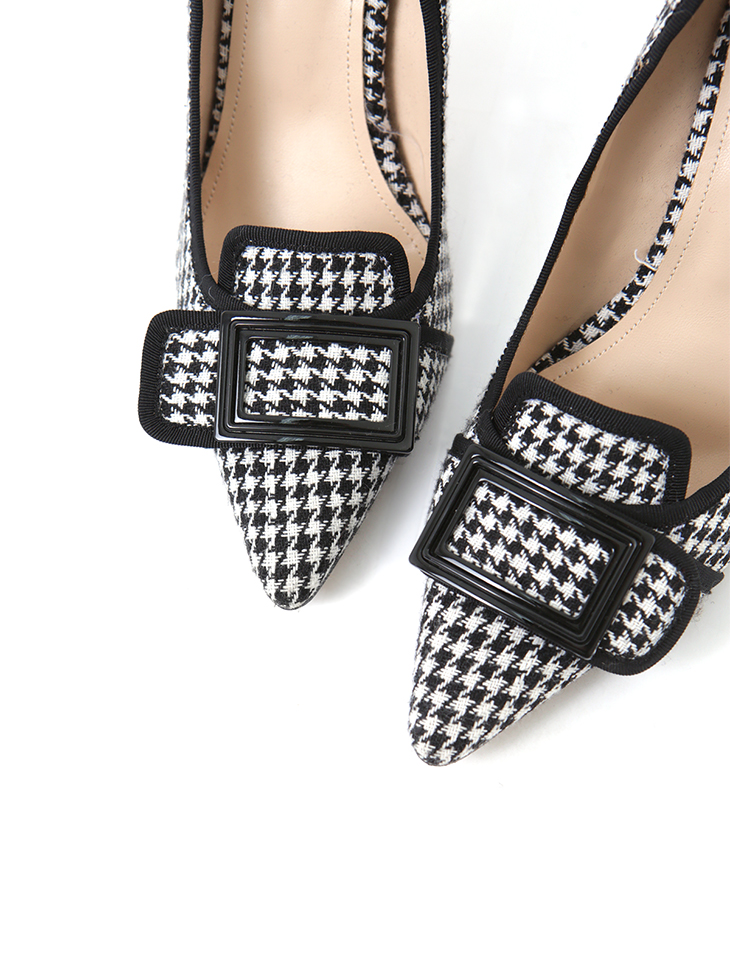 AR-2348 Square point Check High heels