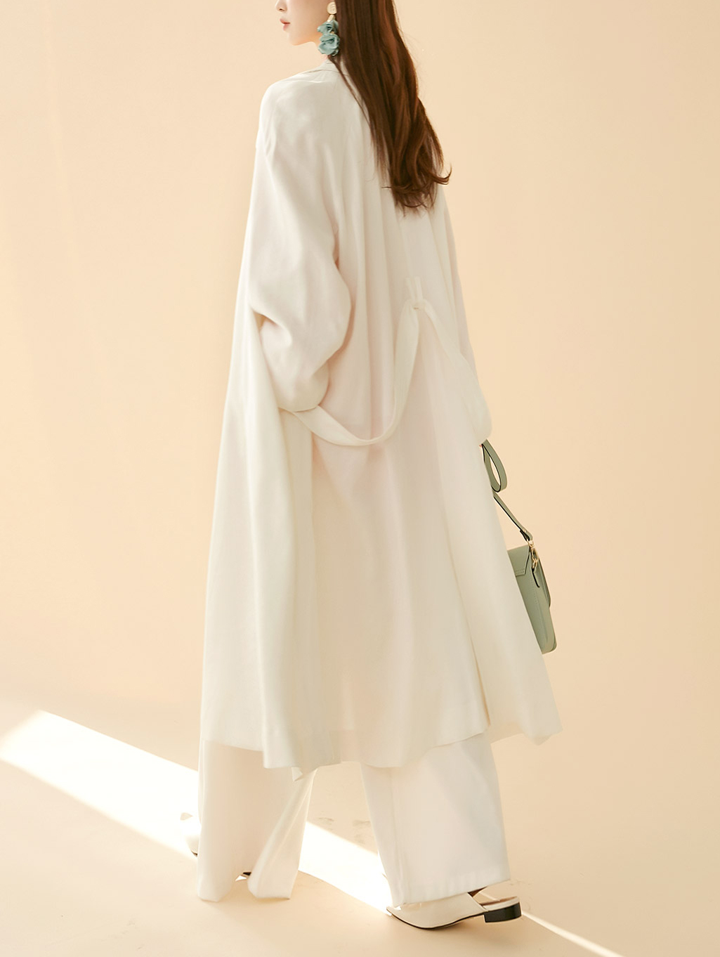 J914 Jennan Soft Trench Coat (Belt set)
