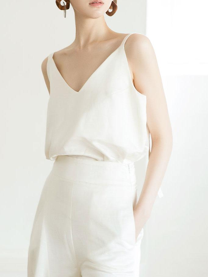 E9003 Rachel Glossy Linen v Top