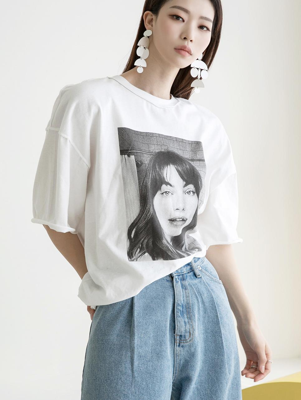 E2184 woman Printing Top