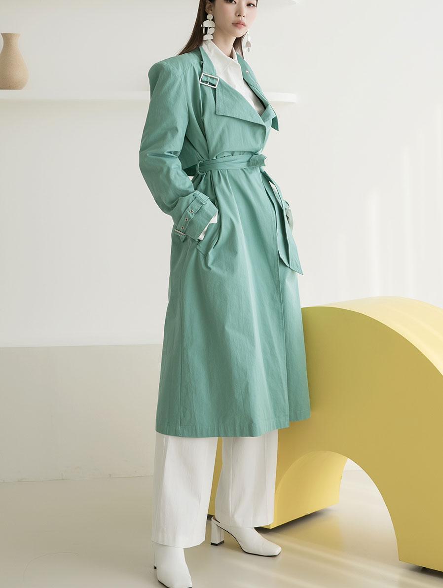 J935 eyelet trench coat(Belt set)