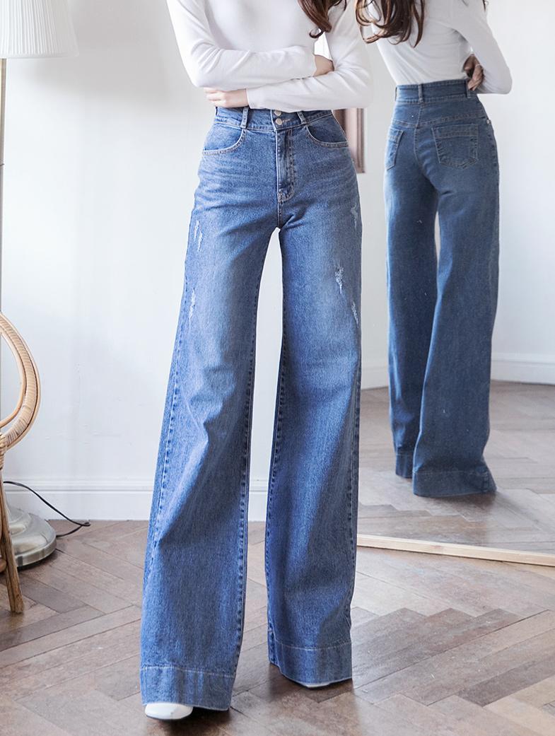 PJ400 포레 High Waist wide Denim pants*L size production*(18th REORDER)