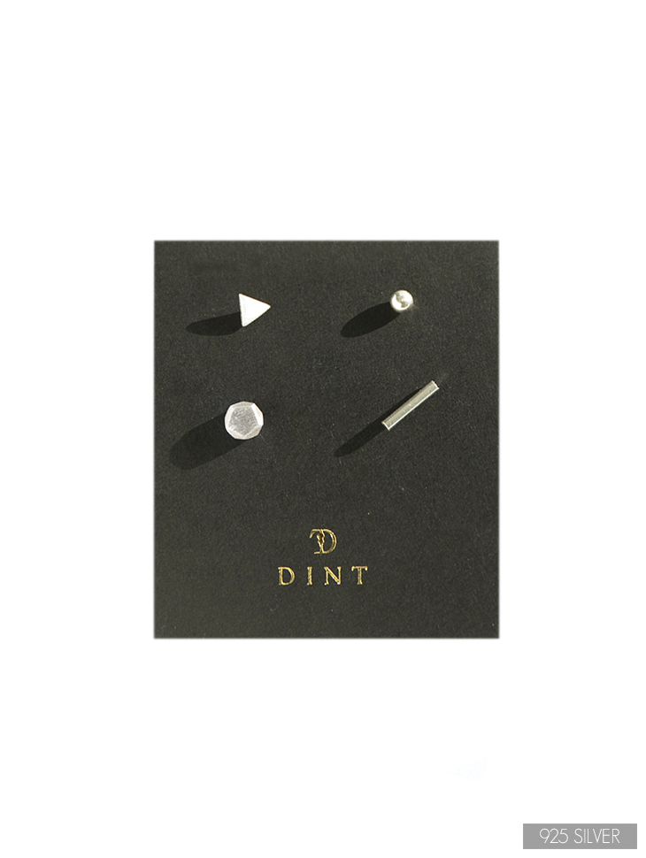 AJ-4309 earring (Silver 925) (4Piece set)