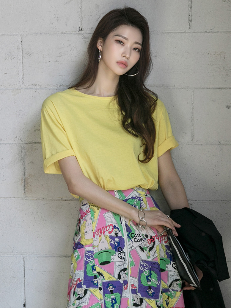 E2209 Round Cotton Sleeve Top(3rd REORDER)