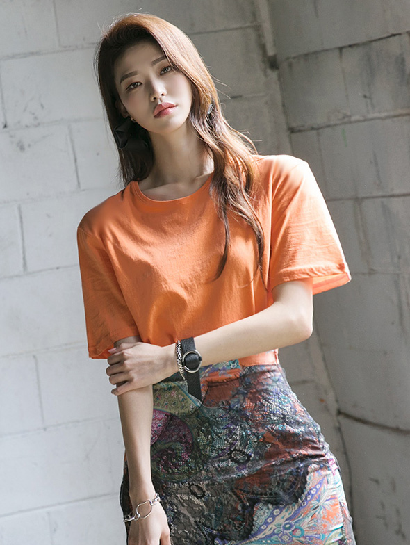 E2209 르본 Round Cotton Sleeve Top(6th REORDER)
