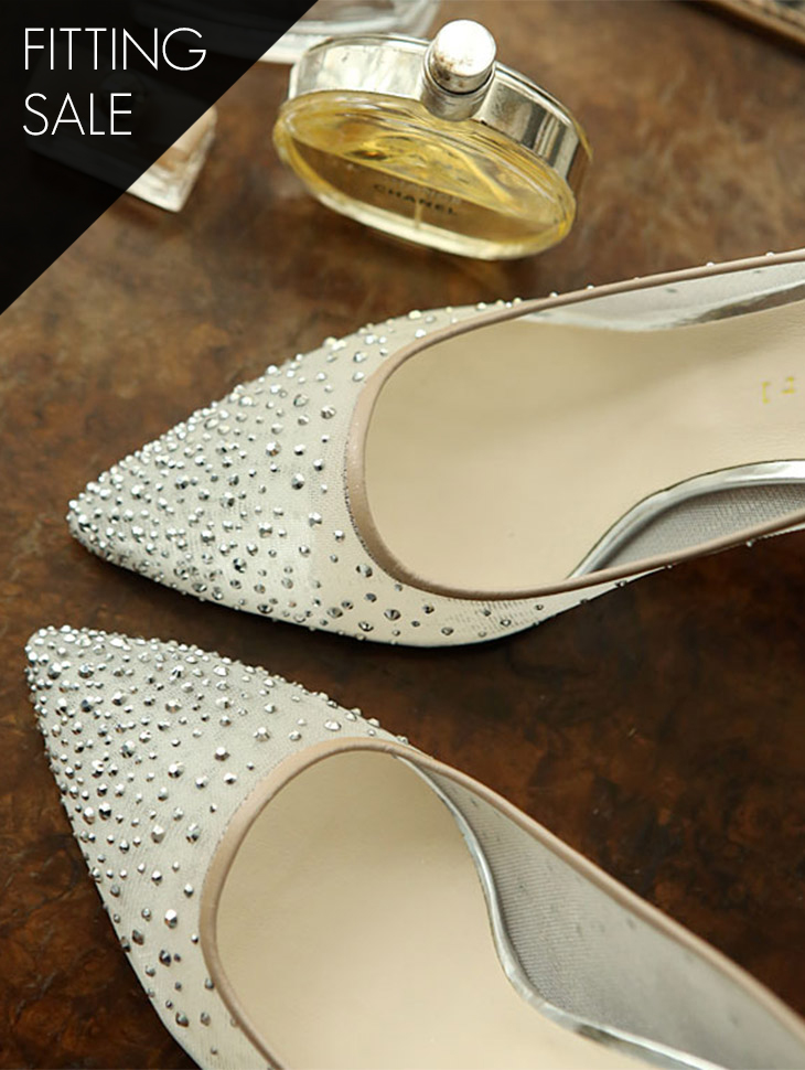 PS1817 See-through cubic Pearl heels *HAND MADE* Fitting sale*