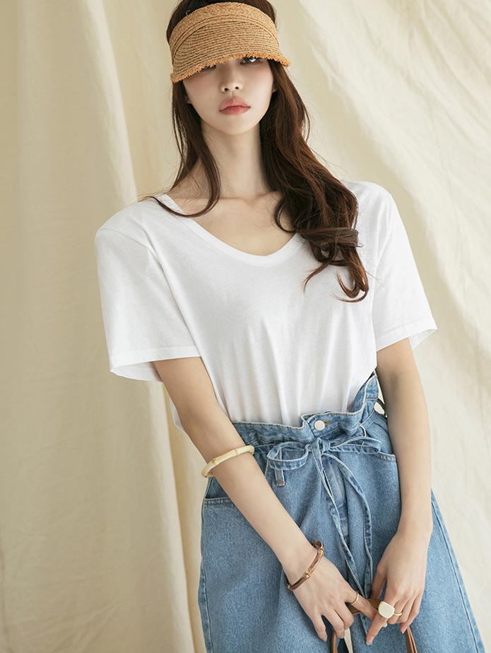 E2238 Round basic Cotton Top