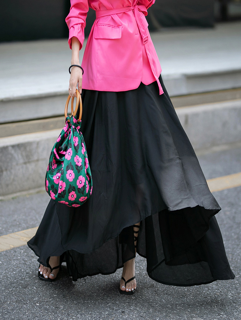 SK1902 도라 unbalance Maxi skirt(87th REORDER)