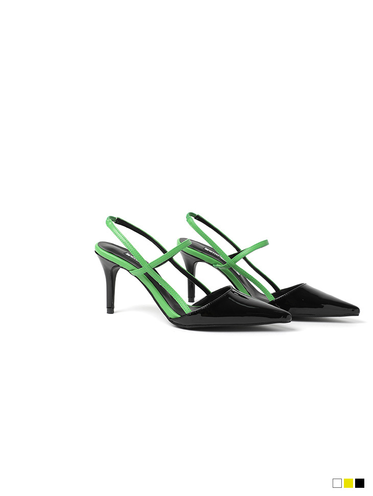AR-2469 루지나 two tone Stiletto slingback Hill (3rd REORDER)
