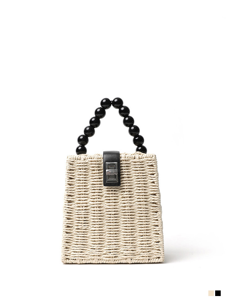 A-1126 Point rattan square bag