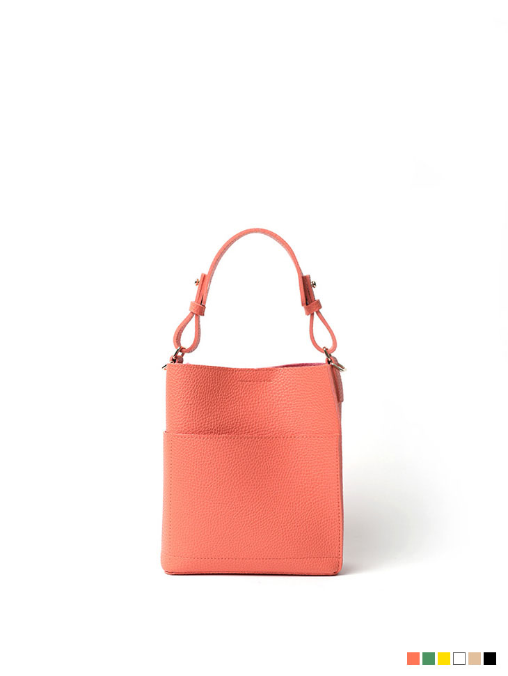 A-1125 Color Point Leather Pocket bag