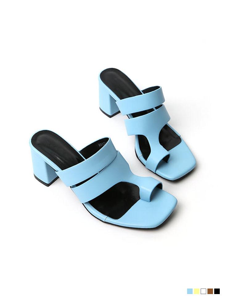 AR-2514 유에니 Two Strap sandals heels