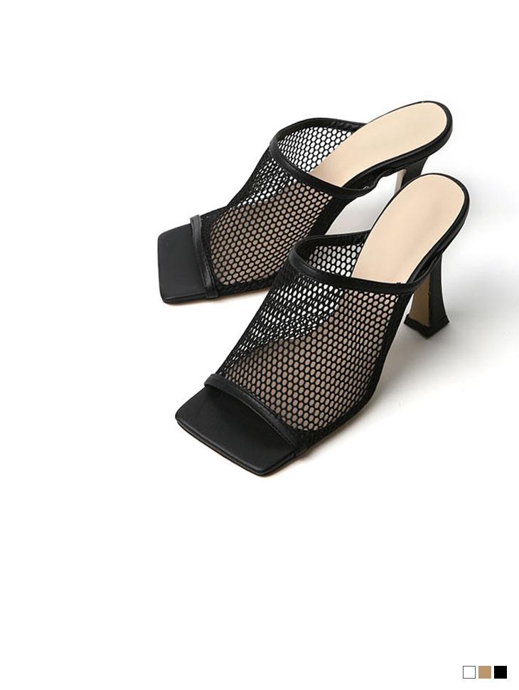AR-2518 Net sandals heels