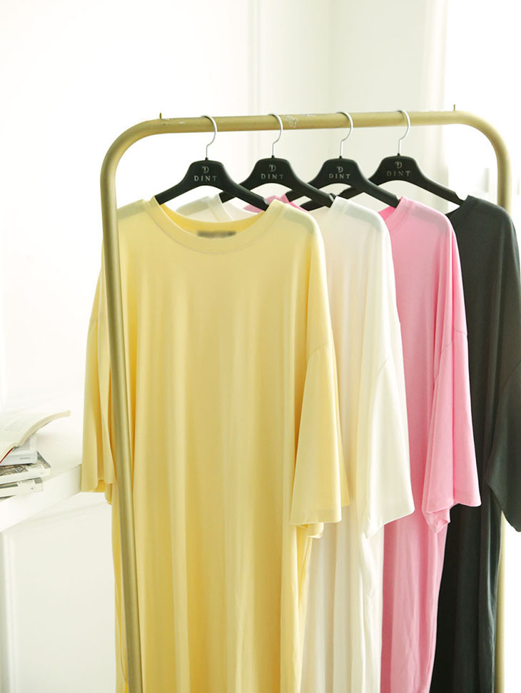 E2245 Round Boxy Long Top
