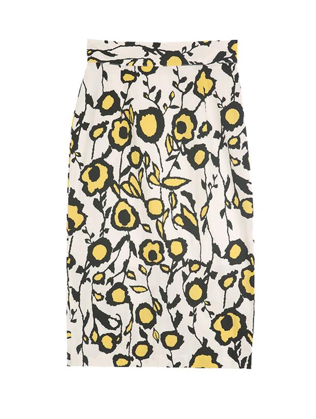 SK9015 animal patterned Slim Skirt