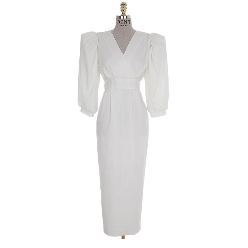 Korean D9080 Sonia Volume Sleeve Dress